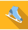 Ice skating flat icon vector image