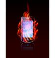 mobile burn vector image