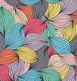 Seamless abstract wavy hand-drawn pattern Endless vector image