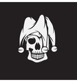 skull in jester cap design template vector image