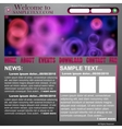 Website abstract design template vector image