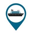 ship cruise boat icon vector image