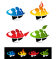 Swoosh People Logo Icons vector image