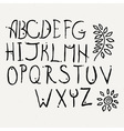 Hand drawn brush letters set Charcoal symbols vector image