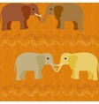 Elephants in love seamless pattern vector image vector image