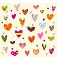 Hearts background Vector Image