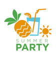 Summertime holiday travel summer party vector image