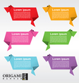 Collection of origami speech bubble EPS 10 vector image
