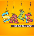 Bright and ornamettal sale banner flyer template vector image