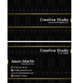 Prestige business card vector image