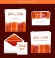 Wedding collection with watercolor vector image vector image