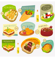 greek food labels vector image vector image
