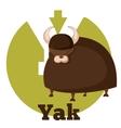 ABC Cartoon Yak vector image