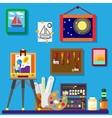 Artist workshop art gallery vector image