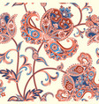 asian seamless pattern floral background vector image