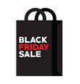 bag for black friday shopping at autumn sale vector image
