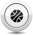 Button with Basketball sport icon vector image