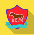 equestrian blaze icon in flat style isolated on vector image