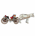 great horse car vector image