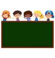 green board with cute children in background vector image