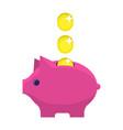 money box flat icon vector image