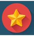 Single golden star shine Flat designed style vector image
