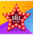 Star with bulb for shopping design vector image