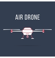 white and pink air drone vector image