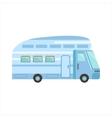 Blue Modern Travel Van vector image