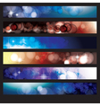 Abstract Glow Background Set vector image vector image