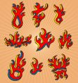hand-drawn fires vector image vector image