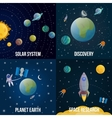 Space Universe Colored Icon Set vector image vector image