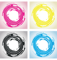 abstract circle background vector image