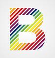 Alphabet Letter B vector image