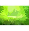 cartoon background bright green field vector image