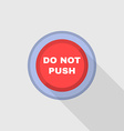 Industrial Red Button Do not press Flat Design vector image