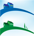 landscape house background vector image
