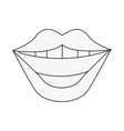 smile mouth laugh icon image vector image