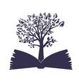 tree in the book unique logo design vector image