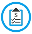 Invoice Pad Rounded Icon vector image