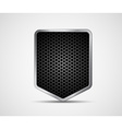 Icon black shield with metal elements vector image