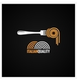Spaghetti Pasta On Fork Background vector image