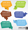 Collection of origami speech bubble EPS10 vector image vector image