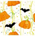 pattern halloween vector image