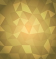 Abstract triangle with yellow background vector image vector image