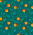 apple pattern orange vector image
