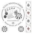 Poker emblem and design elements vector image