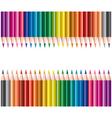colored pencils in rows vector image vector image