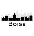 Boise silhouette vector image vector image