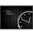 abstract diamond watch vector image vector image